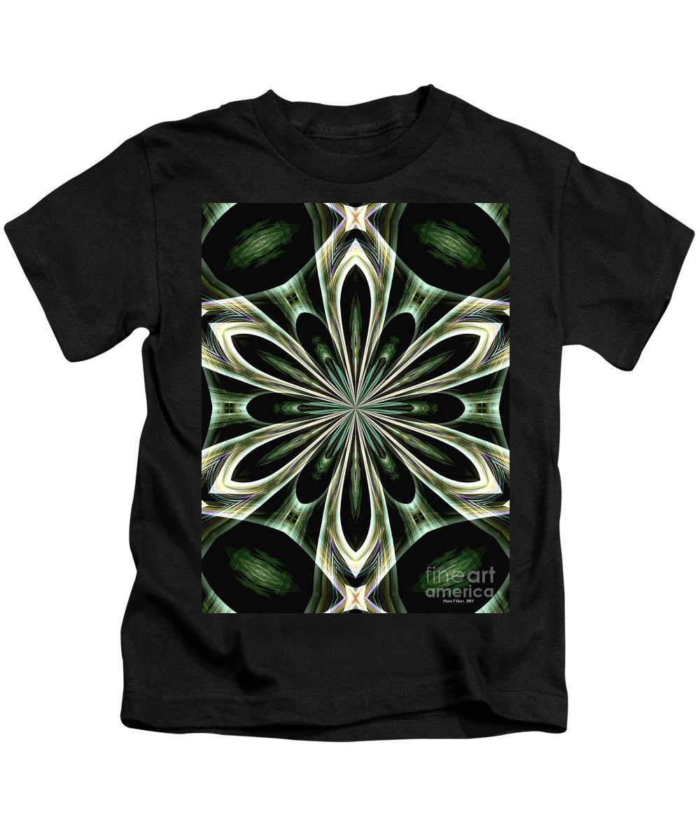 Abstract Kids T-Shirt featuring the digital art Abstract 48 by Maria Urso