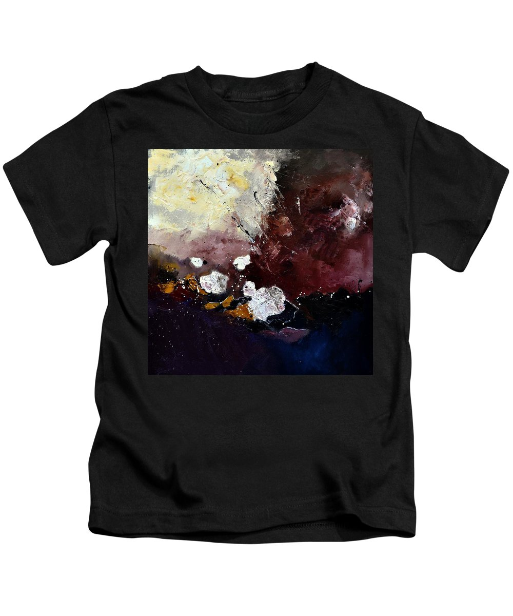 Abstract Kids T-Shirt featuring the painting Abstract 774170 by Pol Ledent