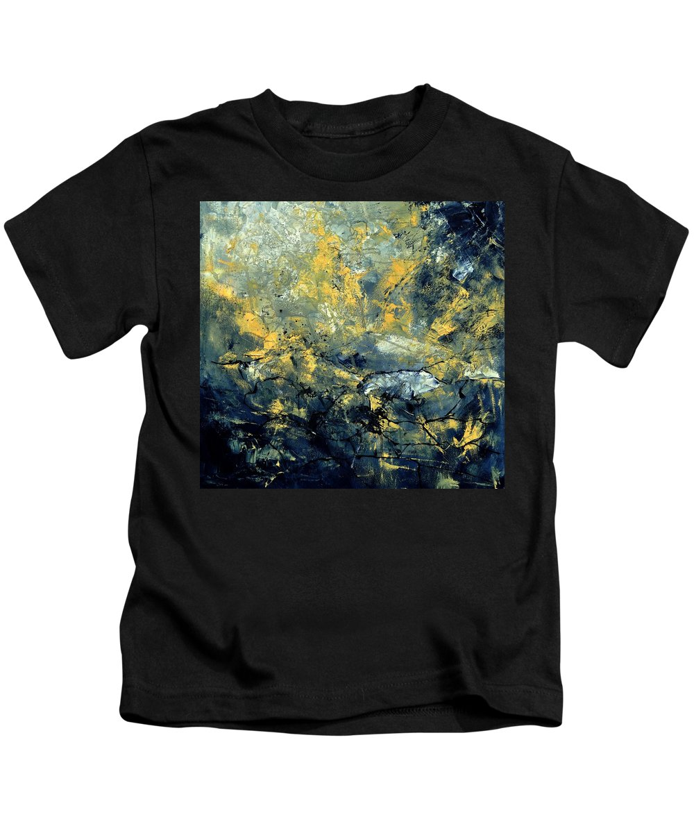 Abstract Kids T-Shirt featuring the painting Abstract 8313061 by Pol Ledent
