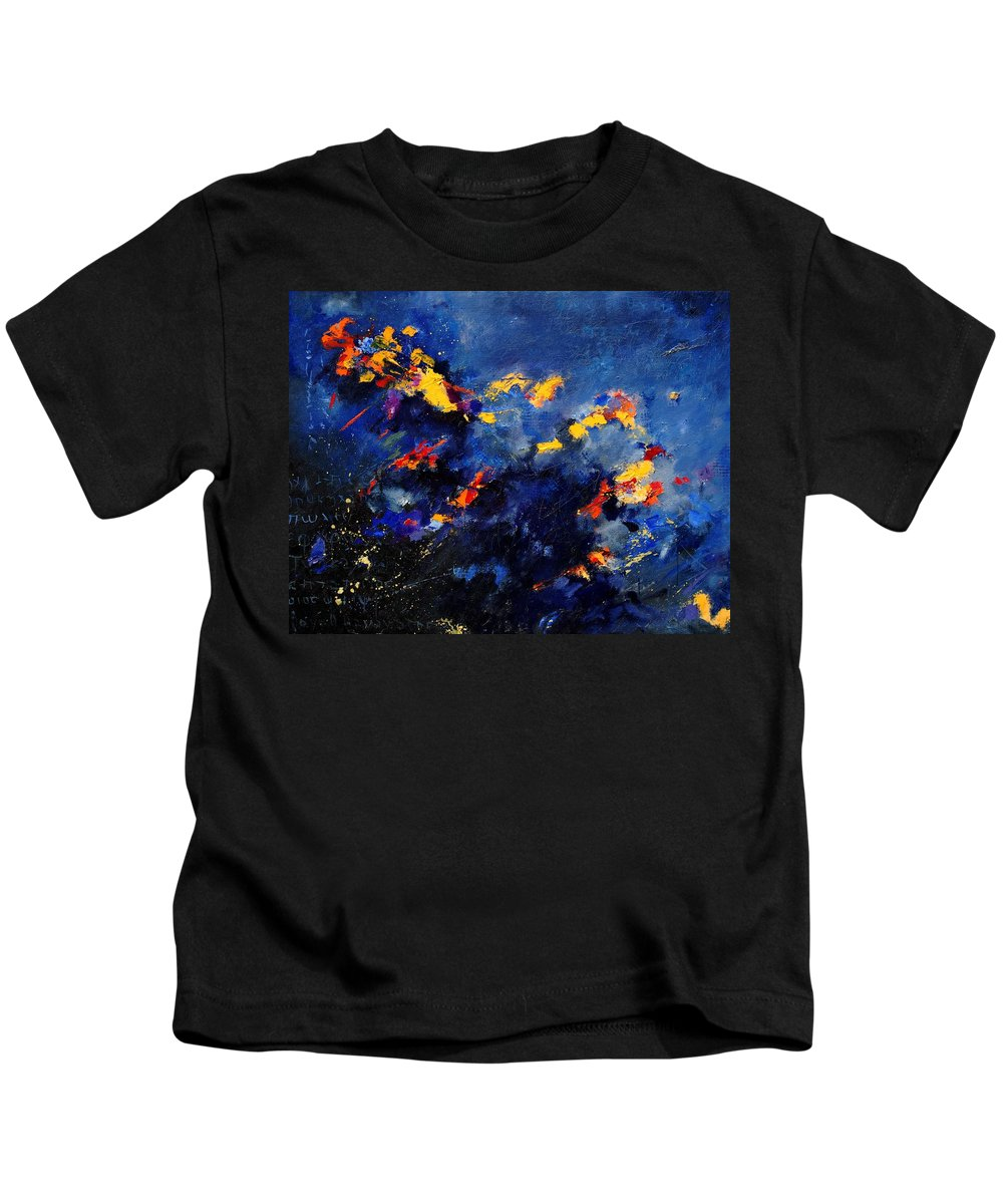 Abstract Kids T-Shirt featuring the painting Abstract 971207 by Pol Ledent