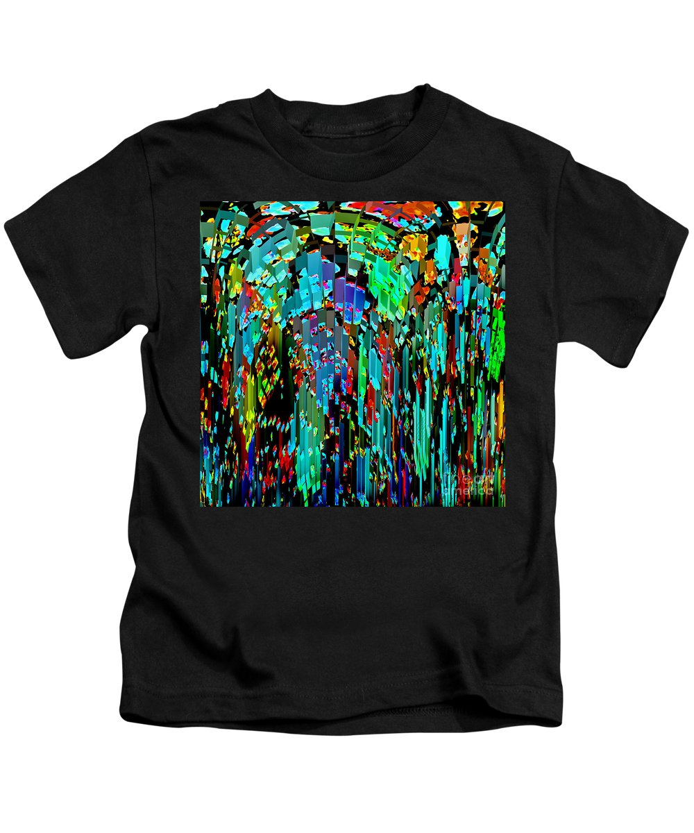 Abstract Kids T-Shirt featuring the photograph Abstract Color Falls by Karen Adams