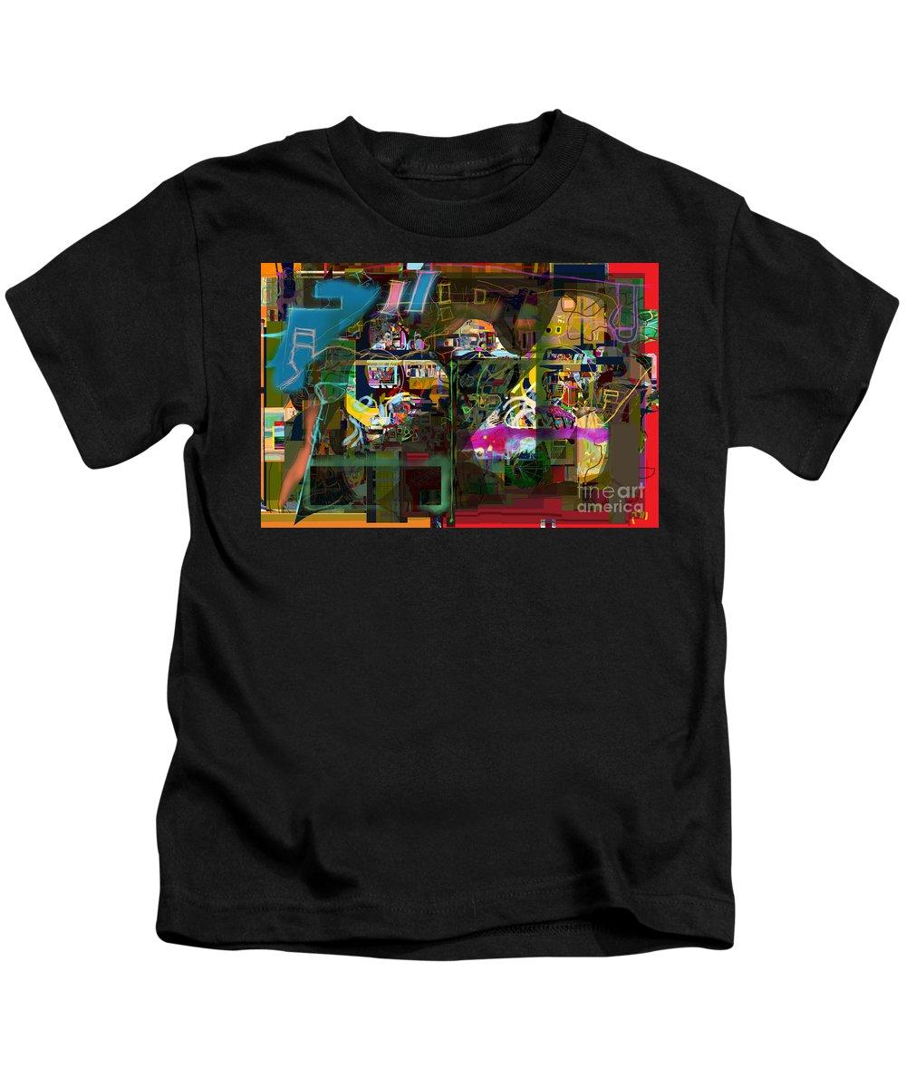 Kids T-Shirt featuring the digital art  Tefilla Without Cavona 7b J by David Baruch Wolk