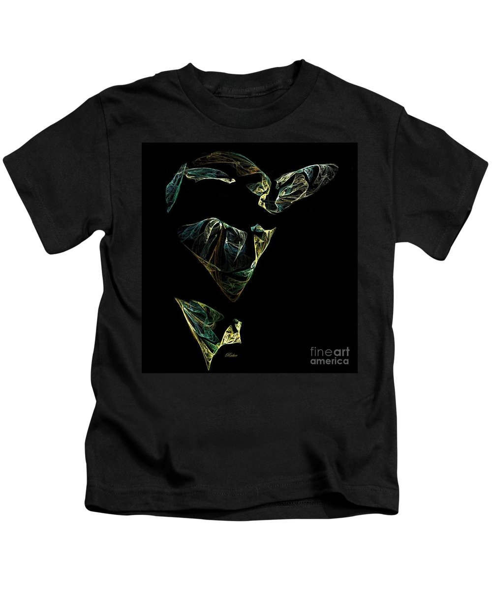 Abstract Kids T-Shirt featuring the digital art Abstract Stranger by Sara Raber