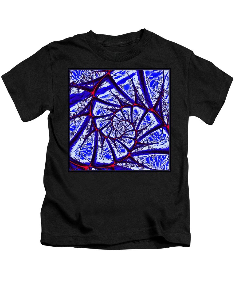 Window Kids T-Shirt featuring the digital art Abstract Window Design by Davids Digits