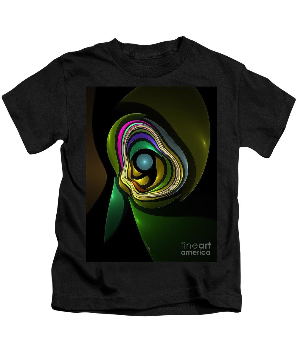 Figure Kids T-Shirt featuring the digital art Abstraction 259-06-13 Marucii by Marek Lutek