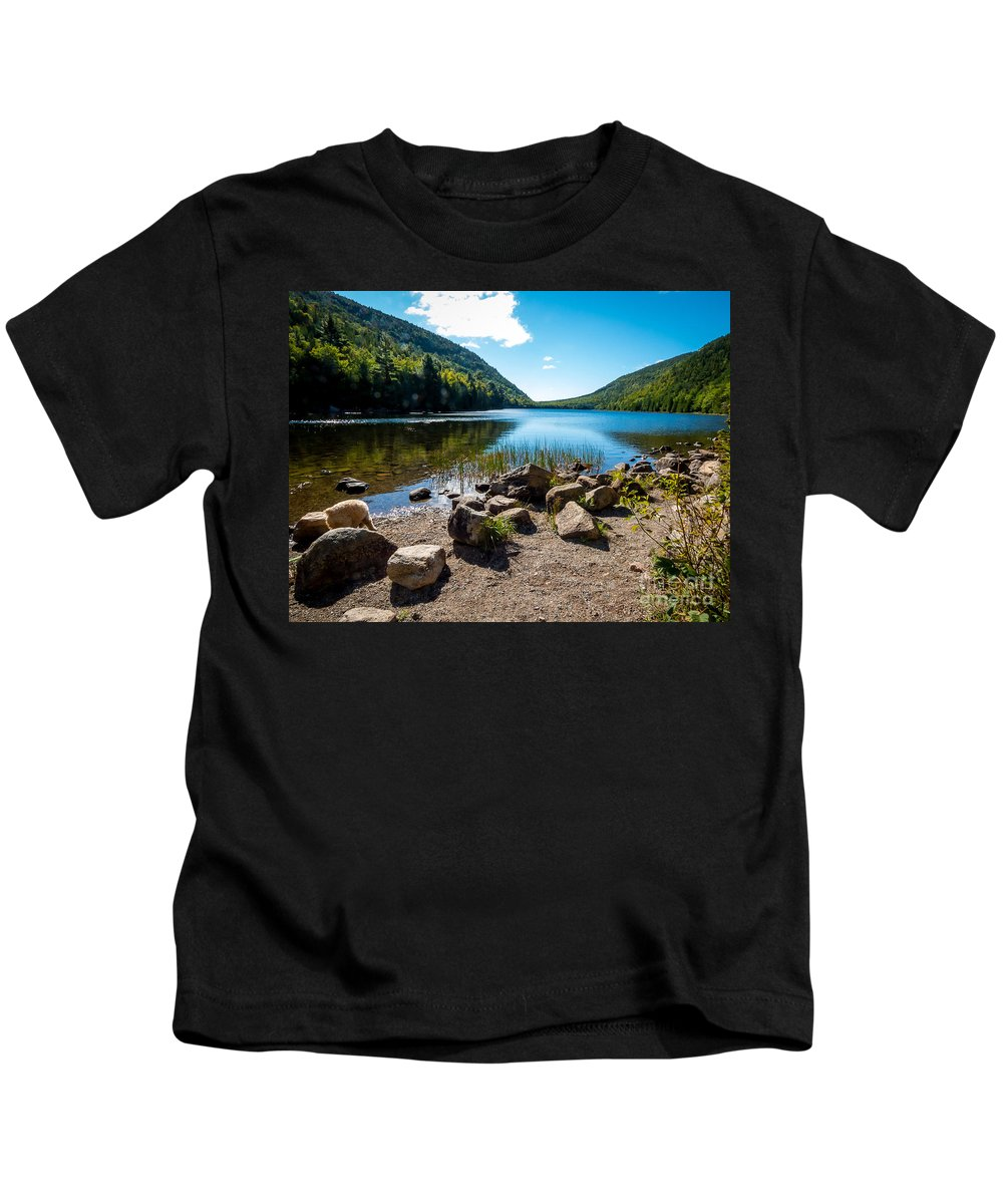 Maine Kids T-Shirt featuring the photograph Acadia Peace by DAC Photography