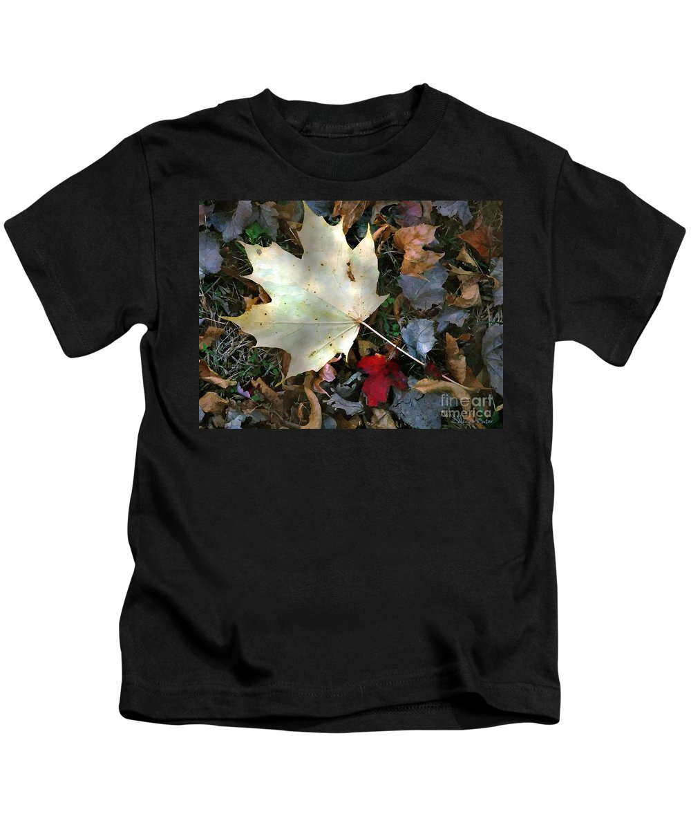 Autumn Kids T-Shirt featuring the painting After The Frost by RC DeWinter