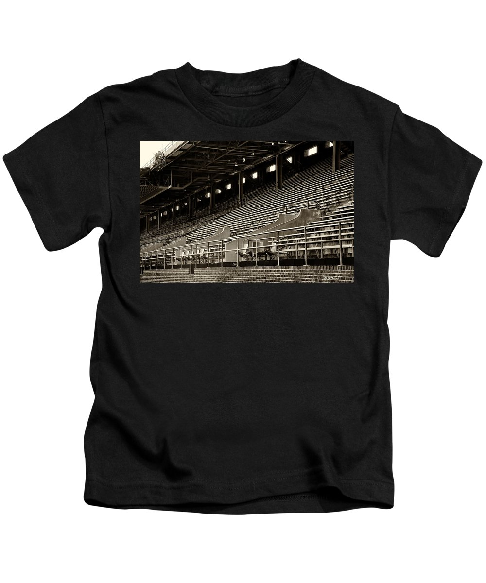 After The Game Kids T-Shirt featuring the photograph After The Game - Franklin Field Philadelphia by Bill Cannon