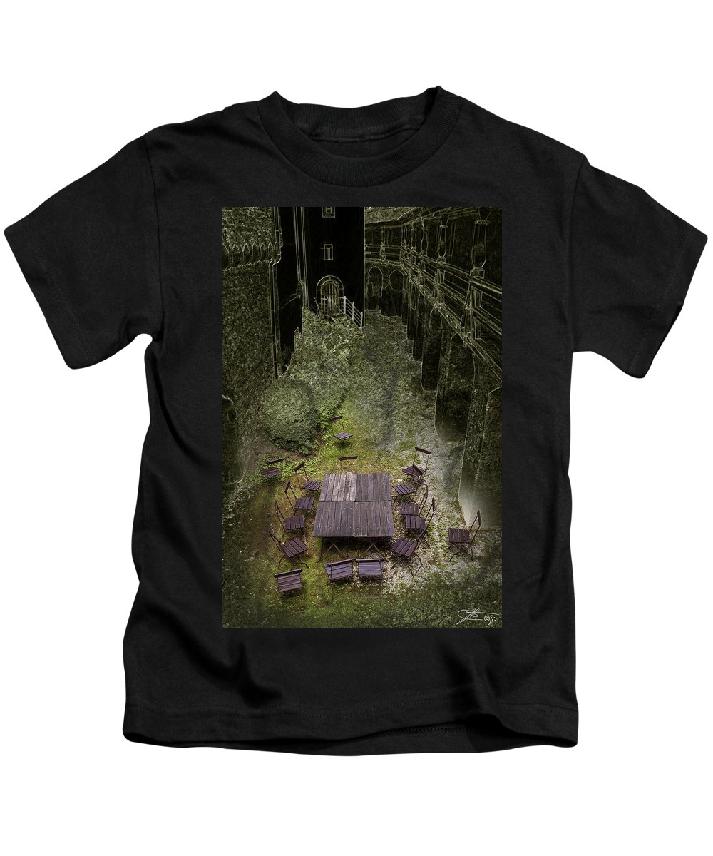 Abstract Kids T-Shirt featuring the photograph After The Meeting by Joseph Yvon Cote