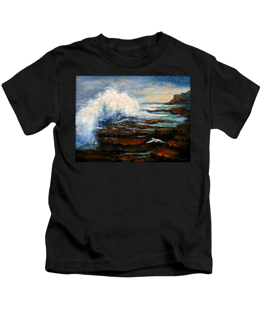 Seascape Kids T-Shirt featuring the painting After The Storm by Gail Kirtz