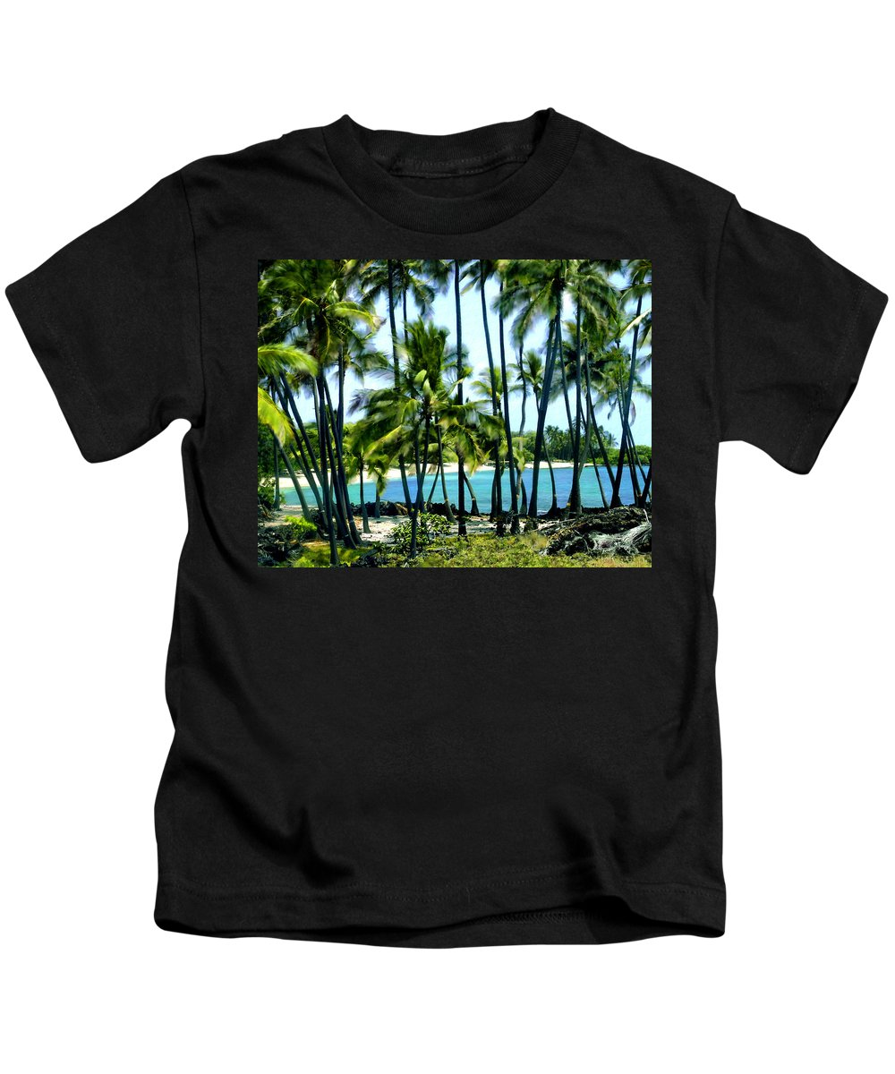 Hawaii Kids T-Shirt featuring the photograph Afternoon At Kakaha Kai by Kurt Van Wagner