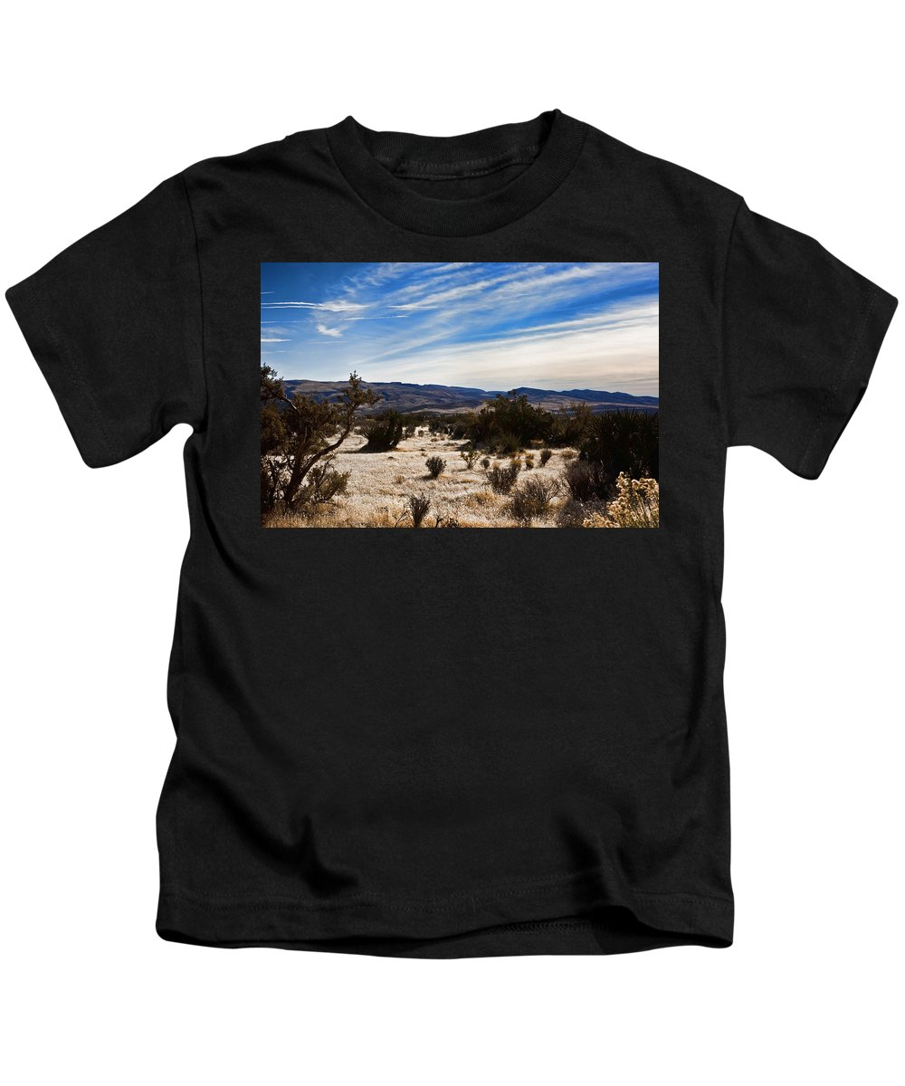 Beige Kids T-Shirt featuring the photograph Afternoon At Red Rock by Evie Carrier