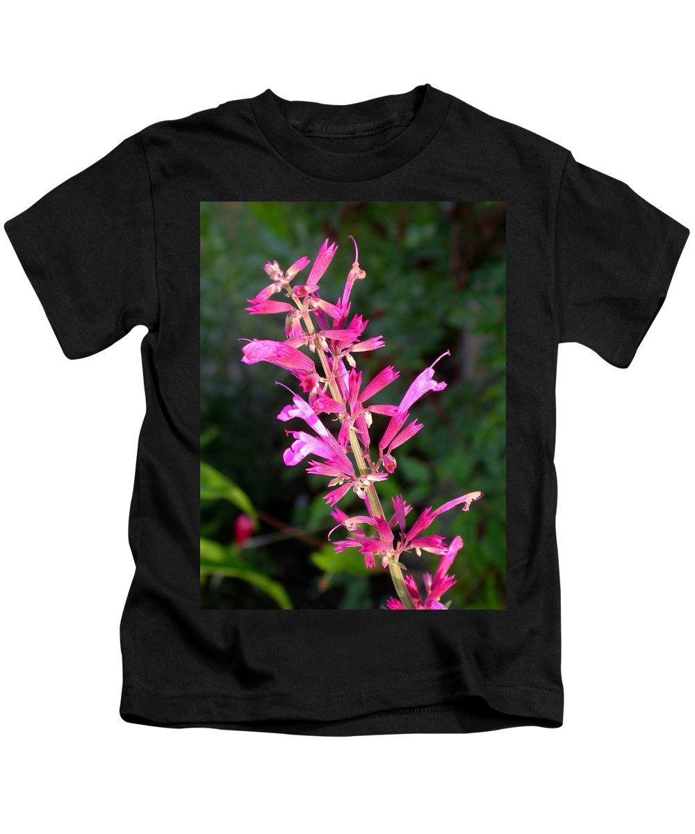 Agastache Ava Kids T-Shirt featuring the photograph Agastache Ava by Cynthia Wallentine