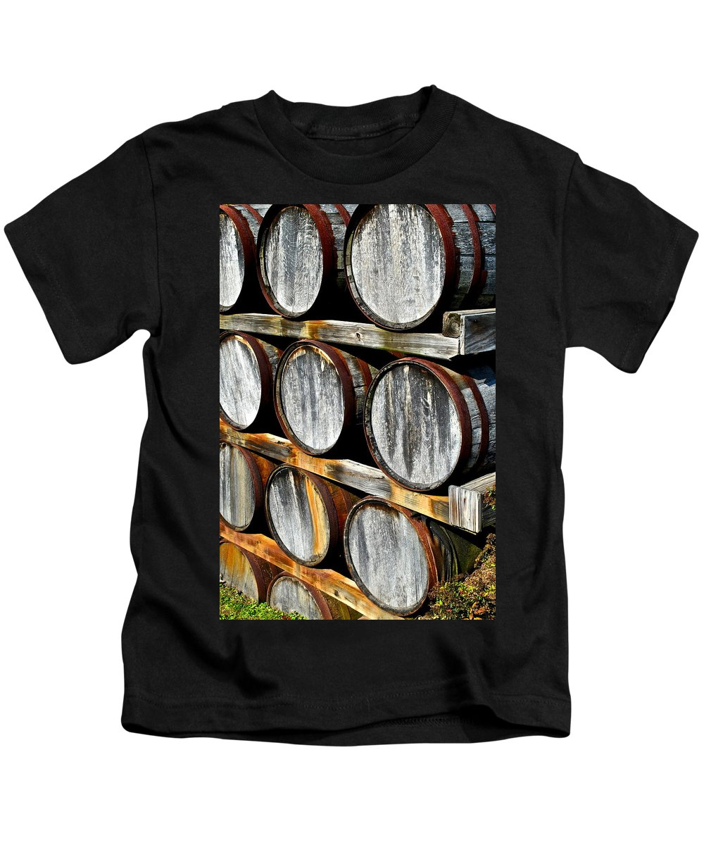 Wine Kids T-Shirt featuring the photograph Aged Wine by Frozen in Time Fine Art Photography