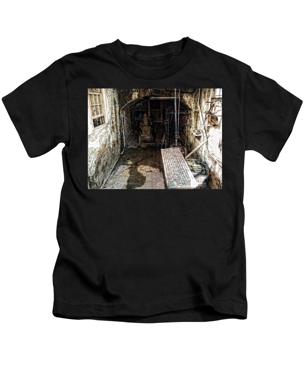 Alcatraz Kids T-Shirt featuring the photograph Alcatraz Island Morgue by Daniel Hagerman