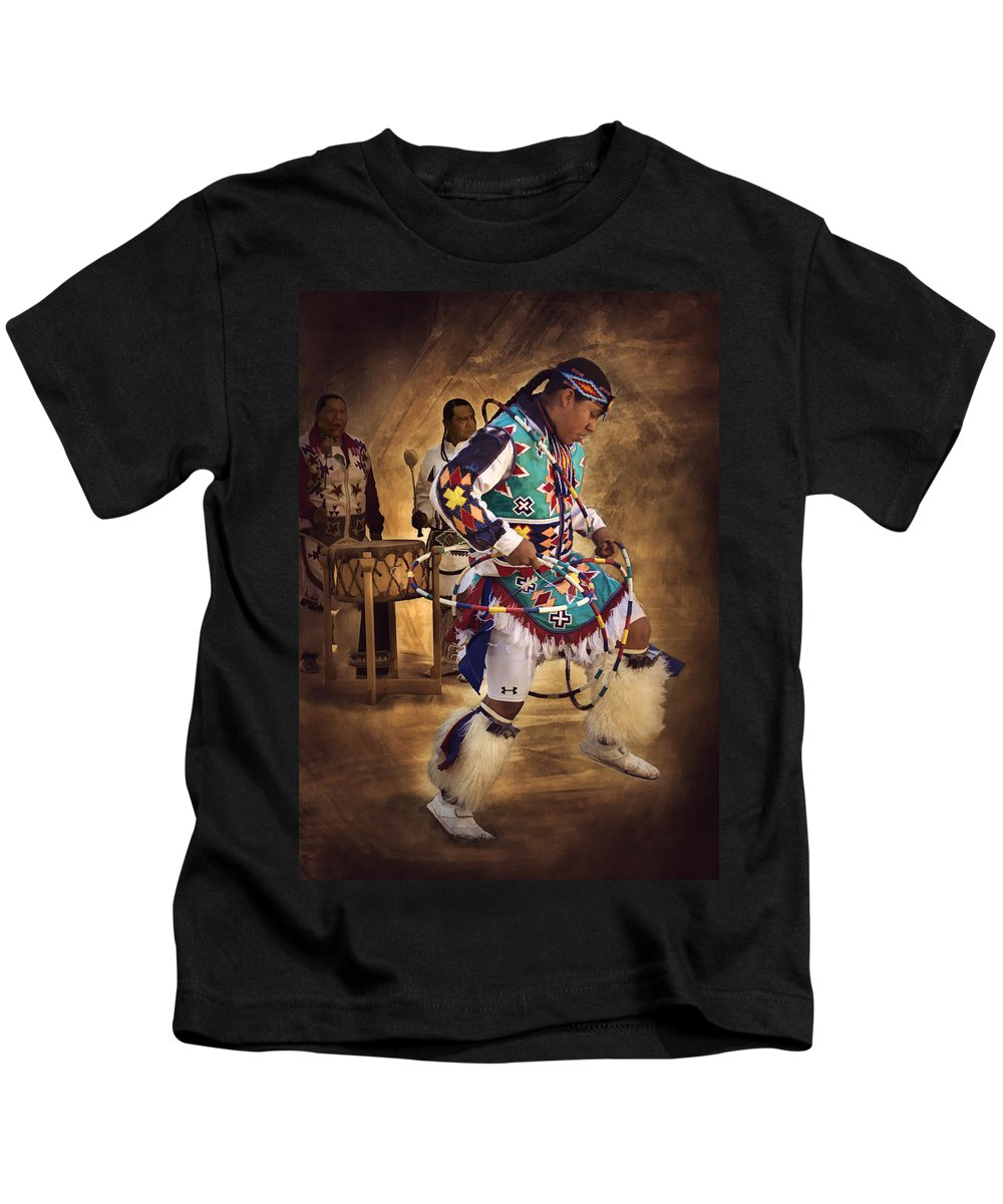 Hoop Dancer Kids T-Shirt featuring the photograph All In The Family by Priscilla Burgers