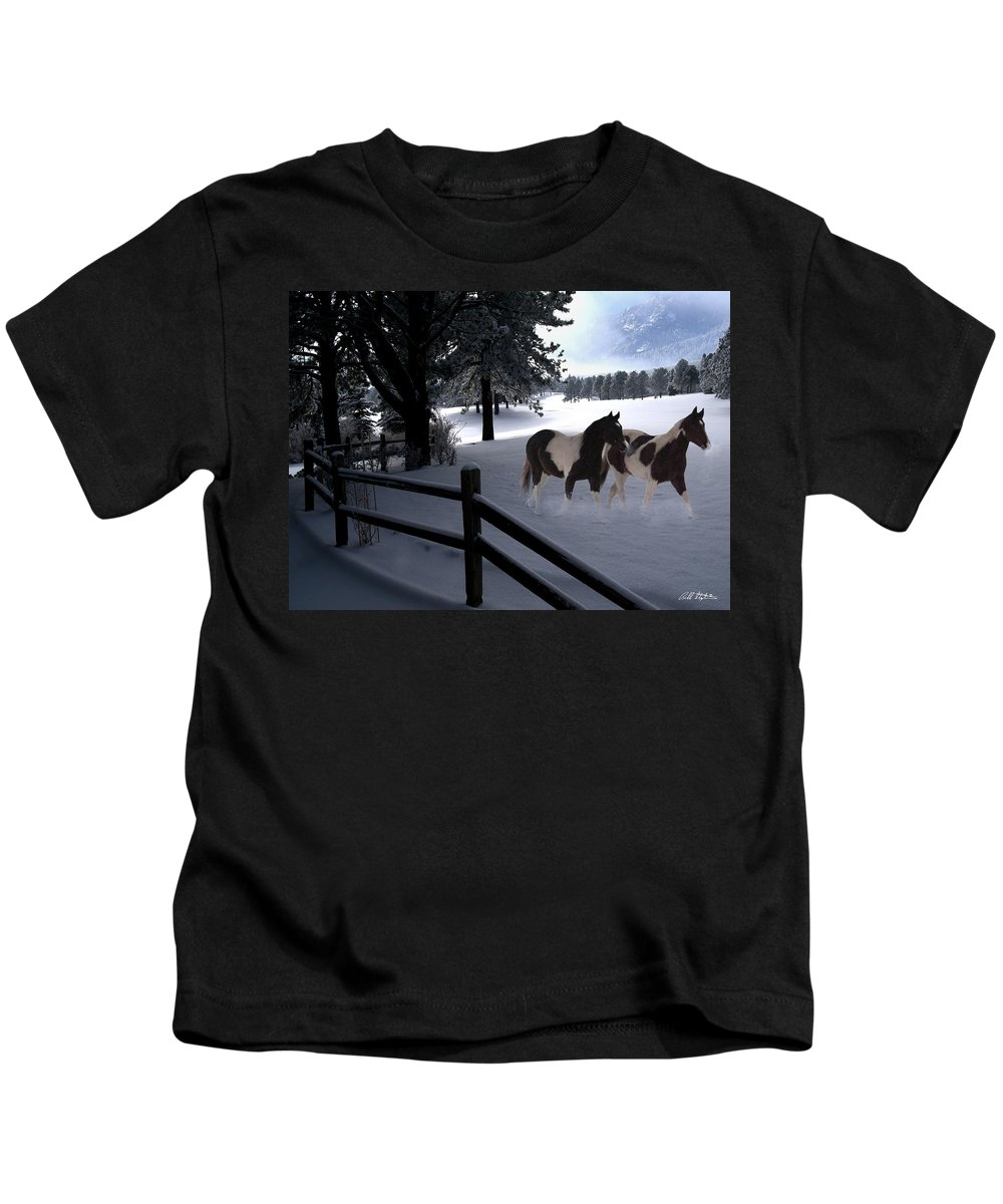 Winter Kids T-Shirt featuring the photograph Almost Christmas by Bill Stephens