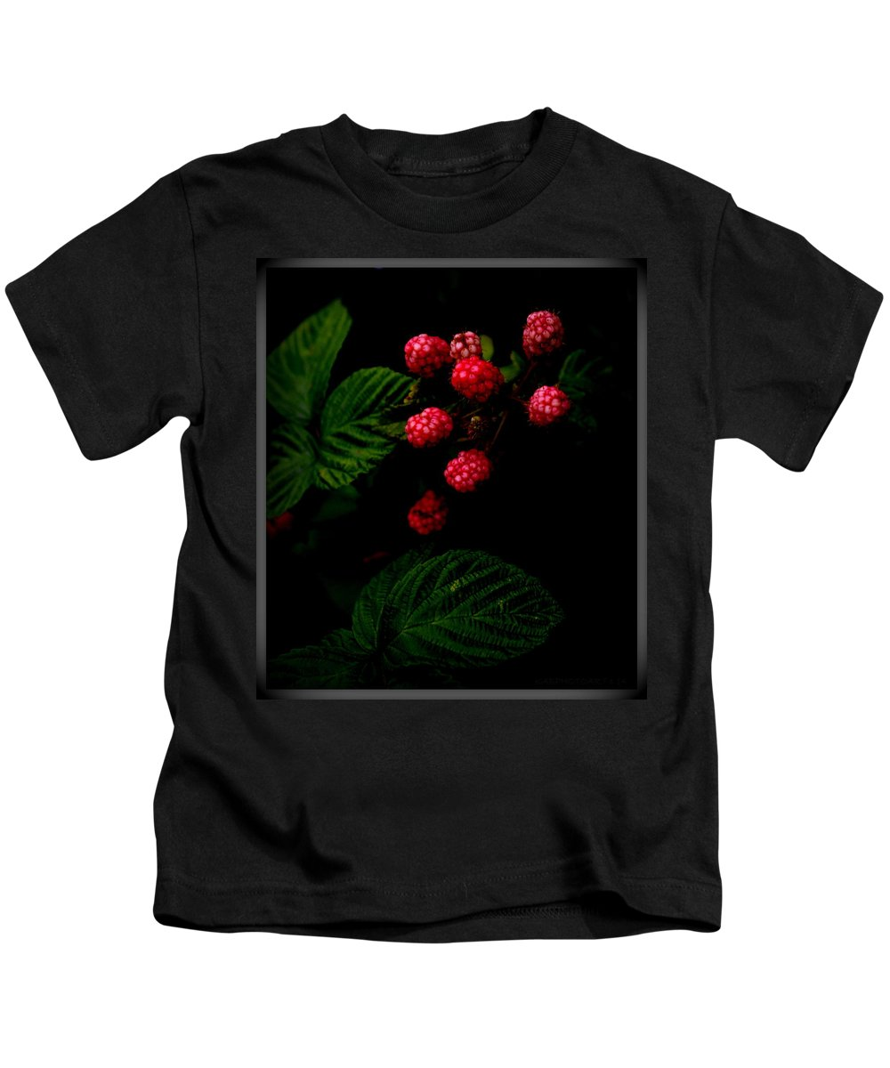 Blackberries Kids T-Shirt featuring the photograph Almost Ripe by Kathy Barney