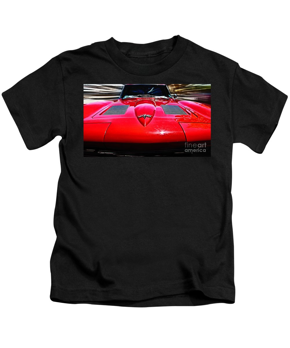 Corvette Stingray Kids T-Shirt featuring the photograph American Classic by Tom Gari Gallery-Three-Photography
