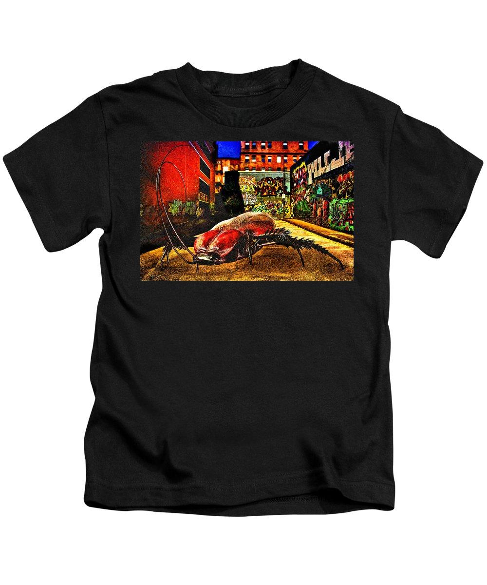 Graffiti Kids T-Shirt featuring the digital art American Cockroach by Bob Orsillo