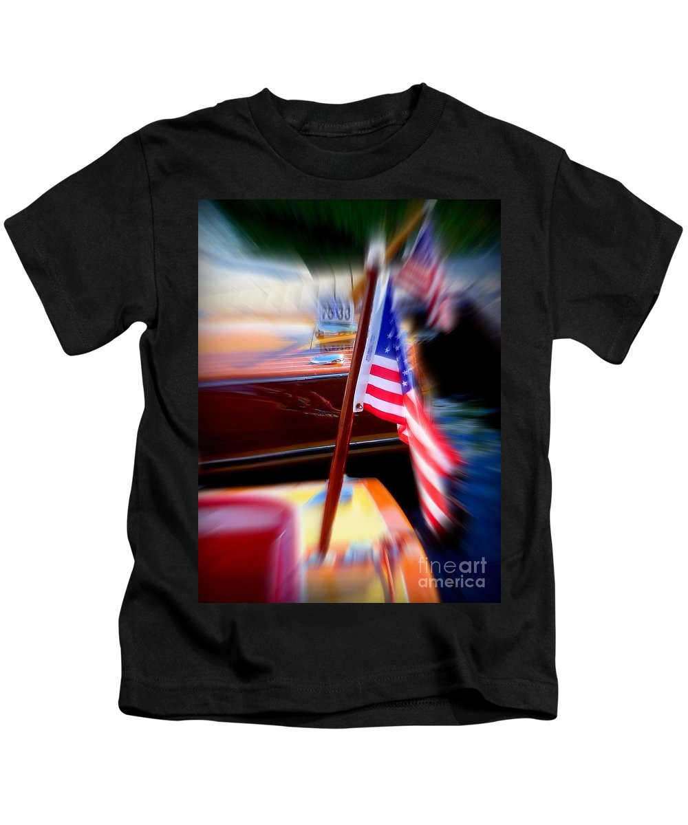 American Flags Kids T-Shirt featuring the photograph American Flag Focus by Susan Garren