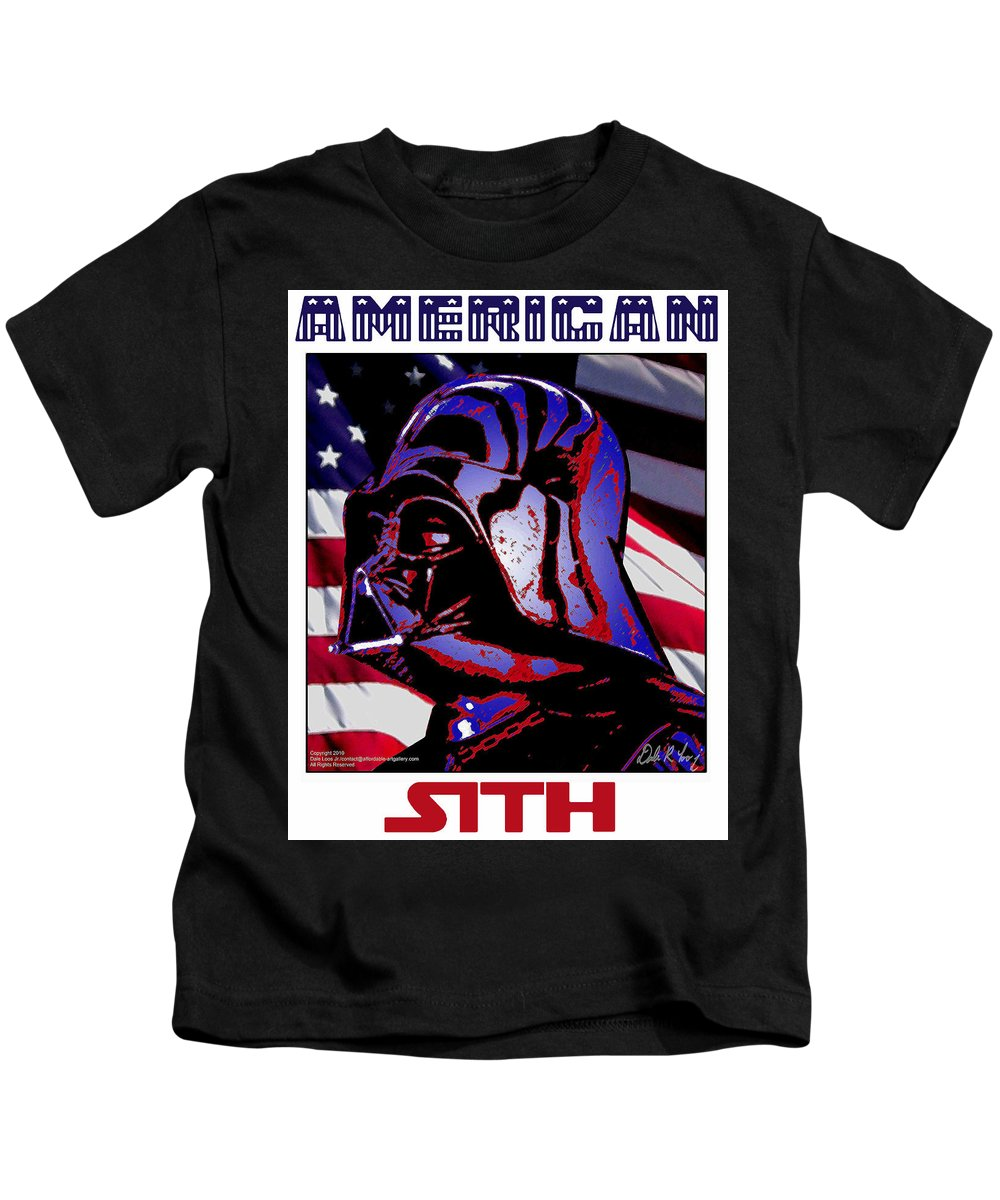 Dale Loos Kids T-Shirt featuring the digital art American Sith by Dale Loos Jr