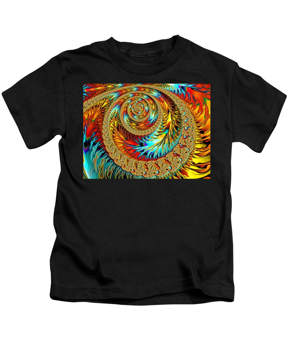 Fractal Kids T-Shirt featuring the digital art American Southwest by HH Photography of Florida