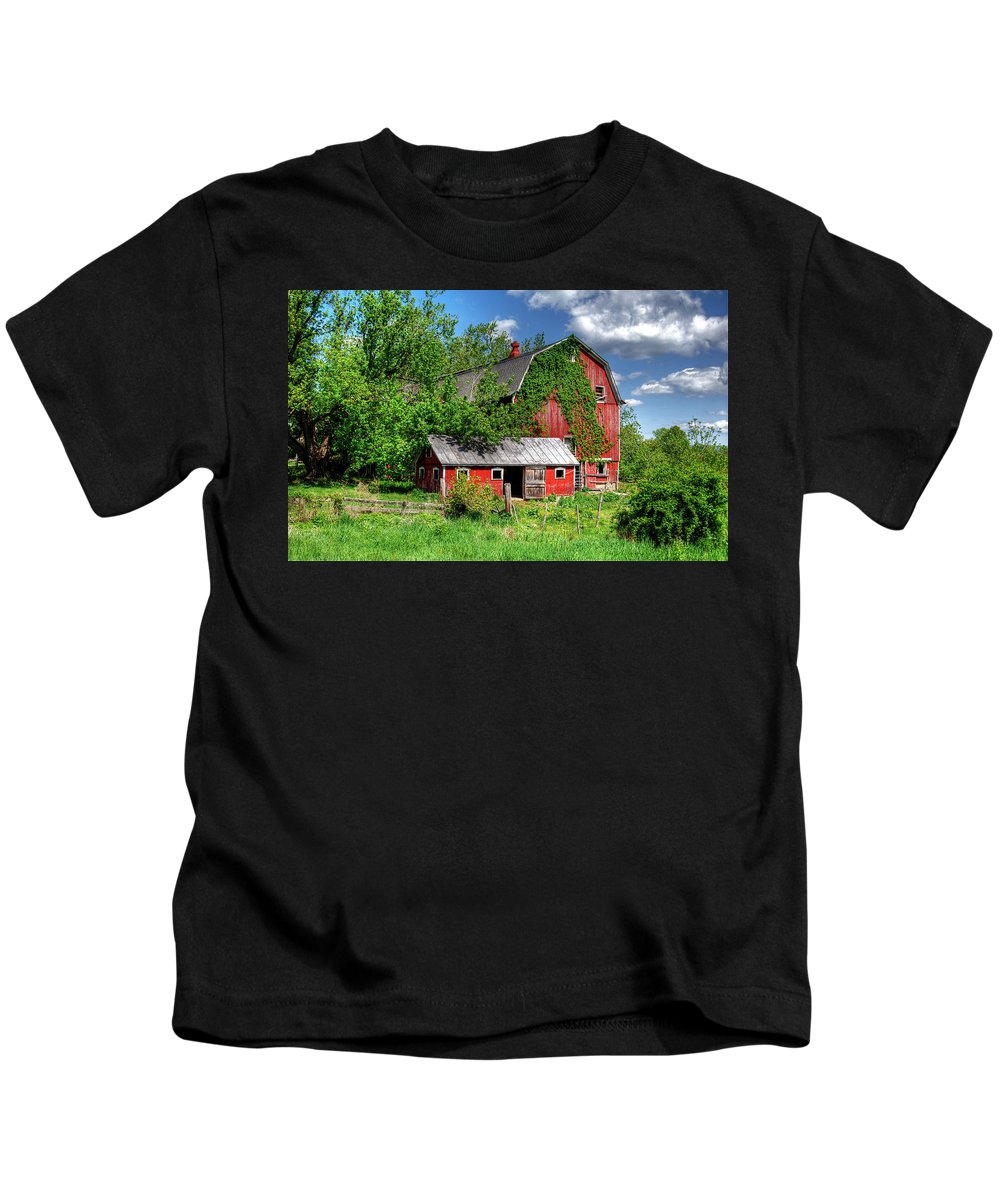 Americana Kids T-Shirt featuring the photograph Americana In New York by Guy Harnett