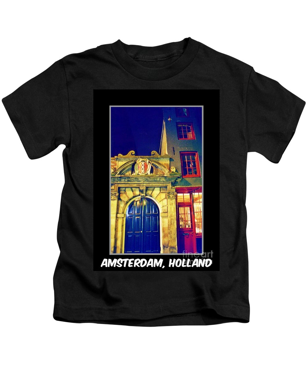 Amsterdam Postcard Kids T-Shirt featuring the photograph Amsterdam Postcard by John Malone