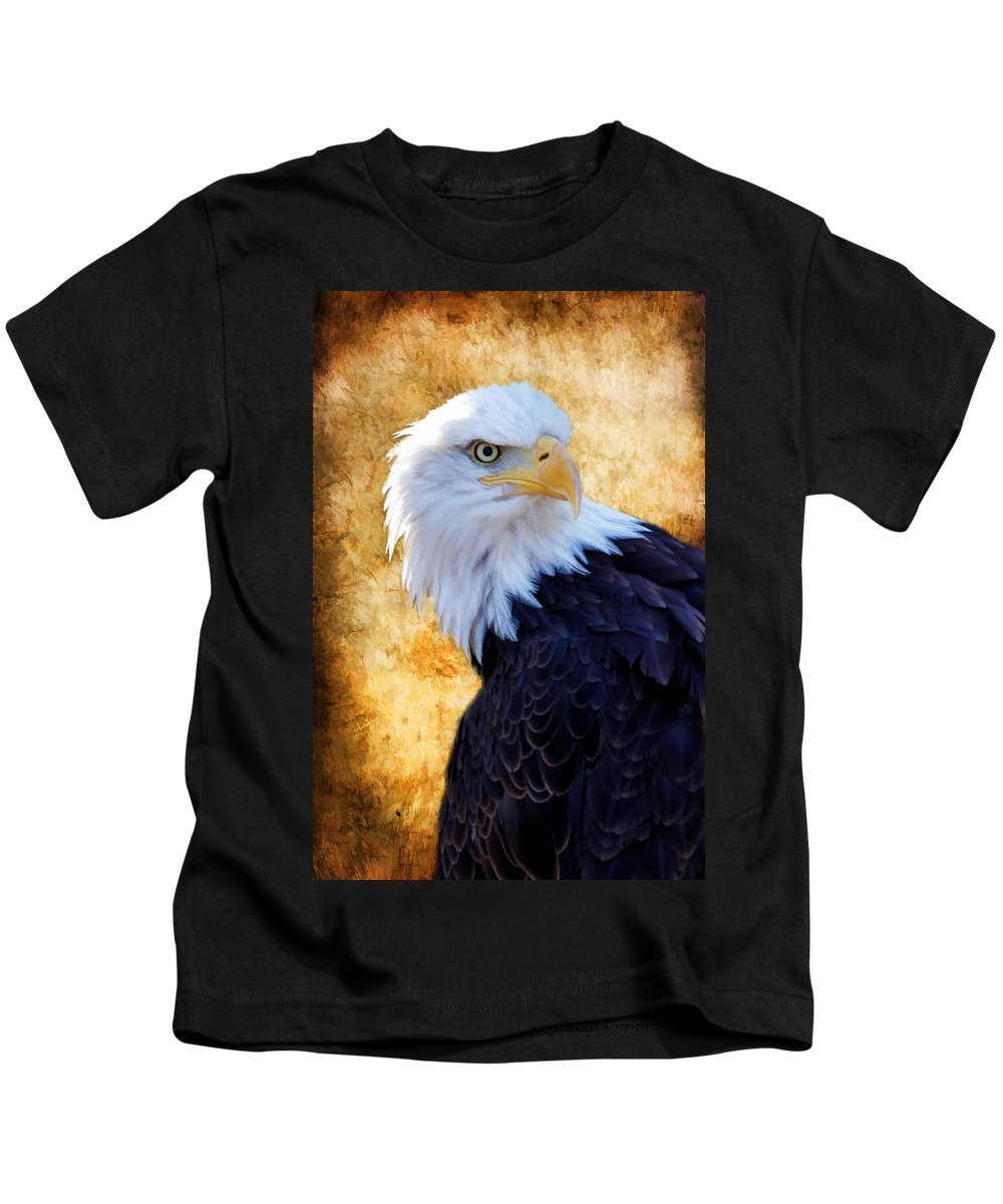 Eagle Kids T-Shirt featuring the photograph An Eagles Standpoint by Athena Mckinzie
