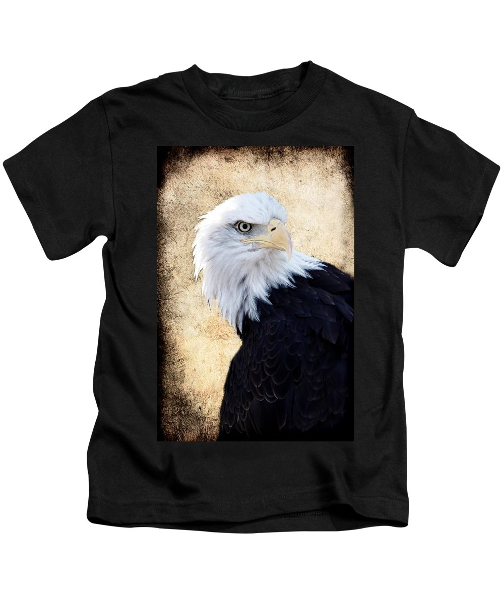 Eagle Kids T-Shirt featuring the photograph An Eagles Standpoint II by Athena Mckinzie