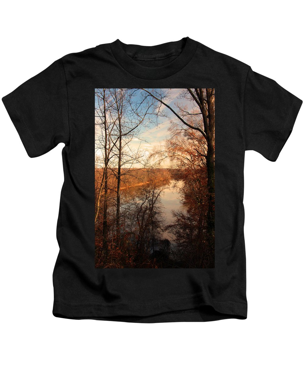 Arboretum Kids T-Shirt featuring the photograph Anacostia River 6457 by Carolyn Stagger Cokley
