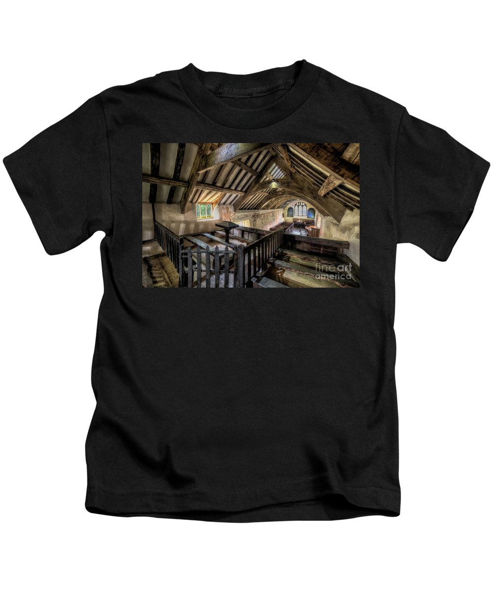 Church Kids T-Shirt featuring the photograph Ancient Pagan Chapel by Adrian Evans