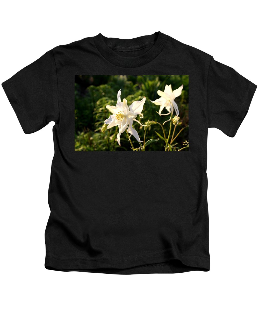 Columbine Kids T-Shirt featuring the photograph Angel Image by Kathryn Meyer