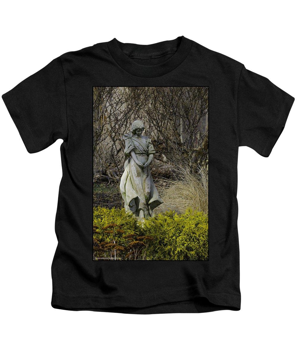 Kids T-Shirt featuring the photograph Angel In The Garden by LeeAnn McLaneGoetz McLaneGoetzStudioLLCcom