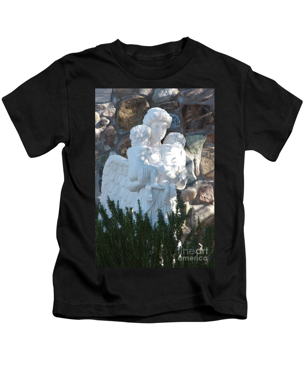 Angels Kids T-Shirt featuring the photograph Angelic Motherhood by Andrew Romer