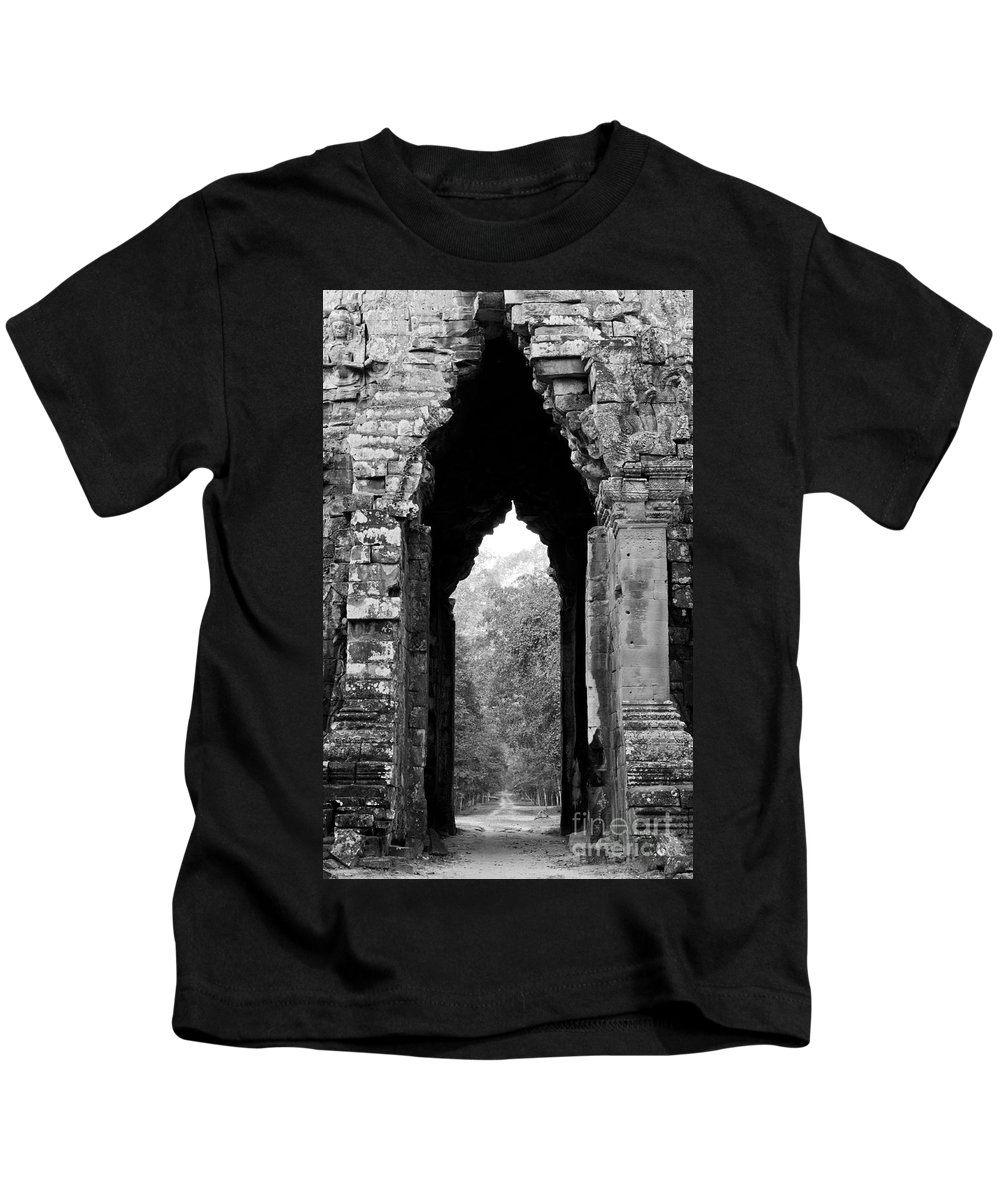 Angkor Kids T-Shirt featuring the photograph Angkor Thom East Gate 03 by Rick Piper Photography