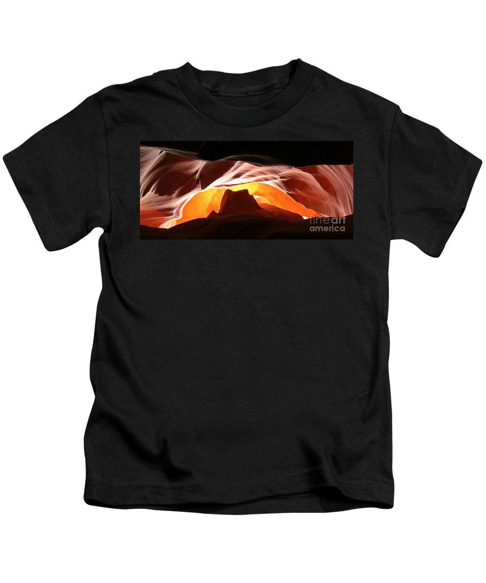 Antelope Canyon Panorama Kids T-Shirt featuring the photograph Antelope Canyon Panorama by John Malone