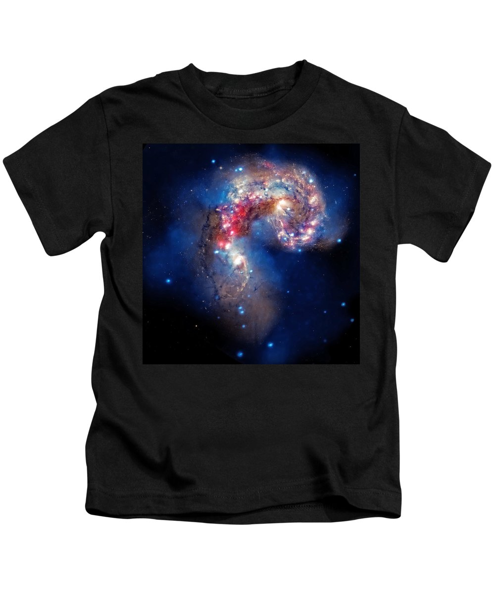 Universe Kids T-Shirt featuring the photograph Antennae Galaxies Collide 2 by Jennifer Rondinelli Reilly - Fine Art Photography