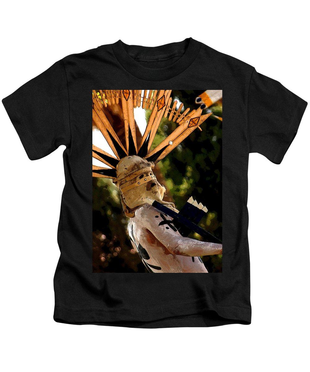 Pow Wow Kids T-Shirt featuring the photograph Apache Dancer by Joe Kozlowski