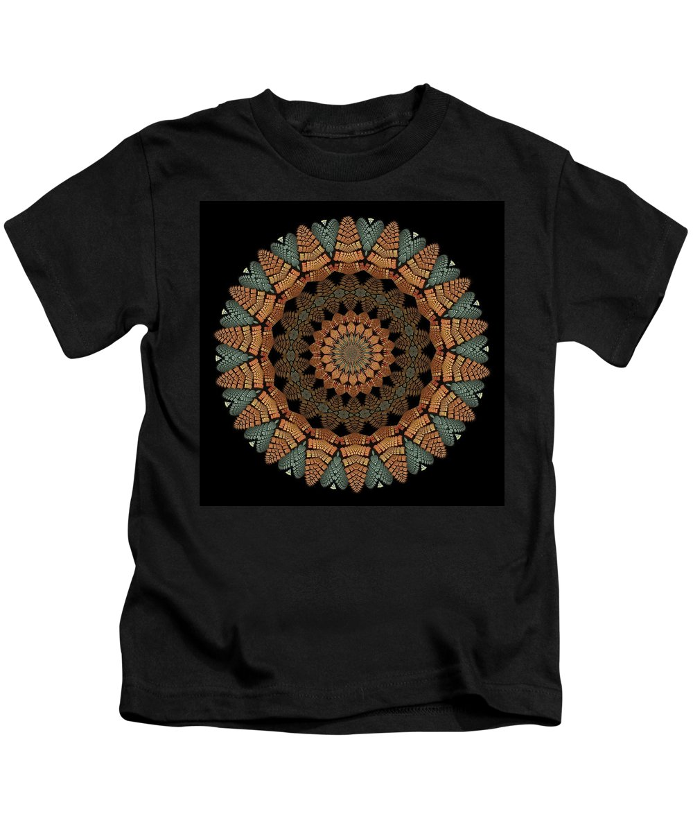 Fractal Abstract Kids T-Shirt featuring the digital art Apostrophe K18-6 by Doug Morgan