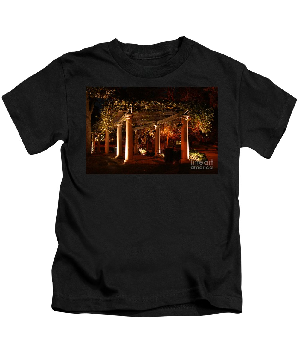 Baker University Kids T-Shirt featuring the photograph Arbor Glow by Crystal Nederman