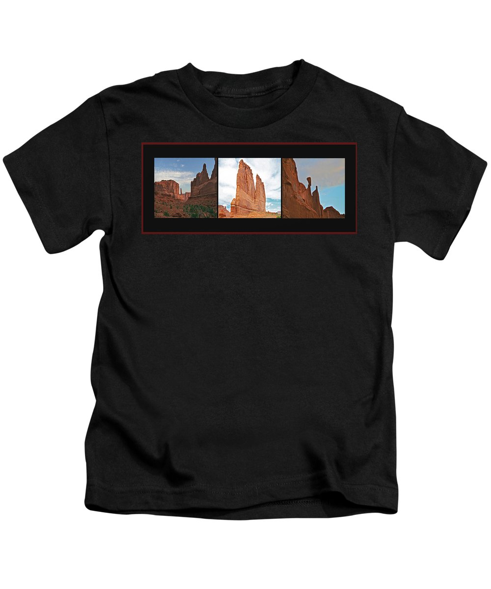 Arches Kids T-Shirt featuring the photograph Arches National Park Panel by SC Heffner