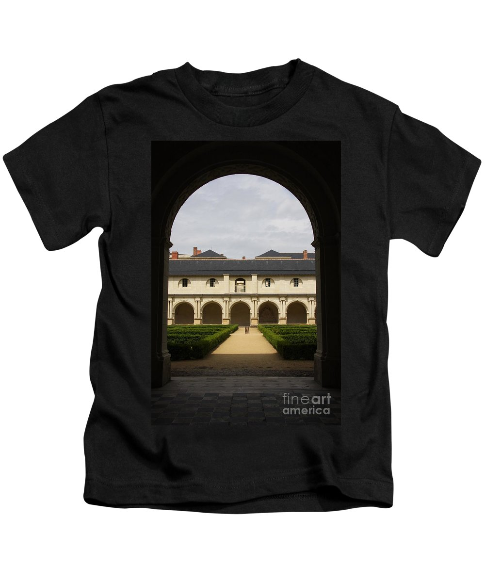 Doorway Kids T-Shirt featuring the photograph Archview To The Courtyard - France by Christiane Schulze Art And Photography