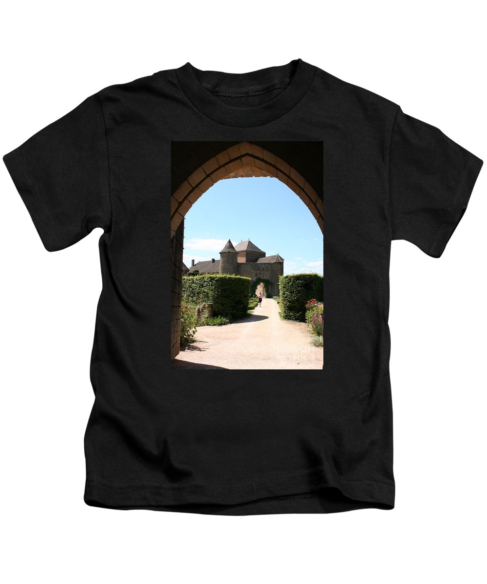 Castle Kids T-Shirt featuring the photograph Archway Chateau Of Berze by Christiane Schulze Art And Photography