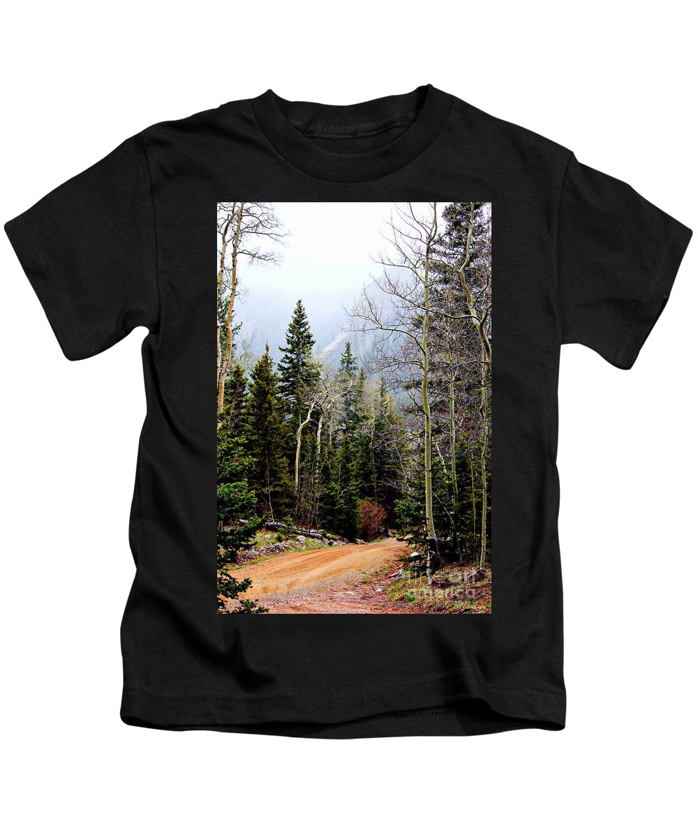 Colorado Landscape Kids T-Shirt featuring the photograph Around The Bend by Barbara Chichester