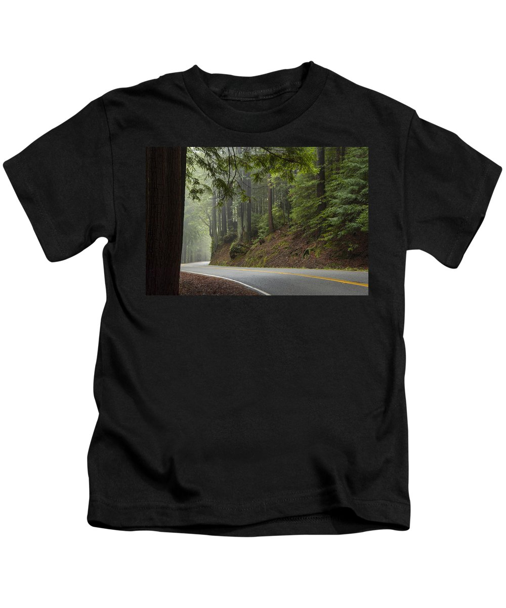 California Kids T-Shirt featuring the photograph Around The Bend by Dustin LeFevre