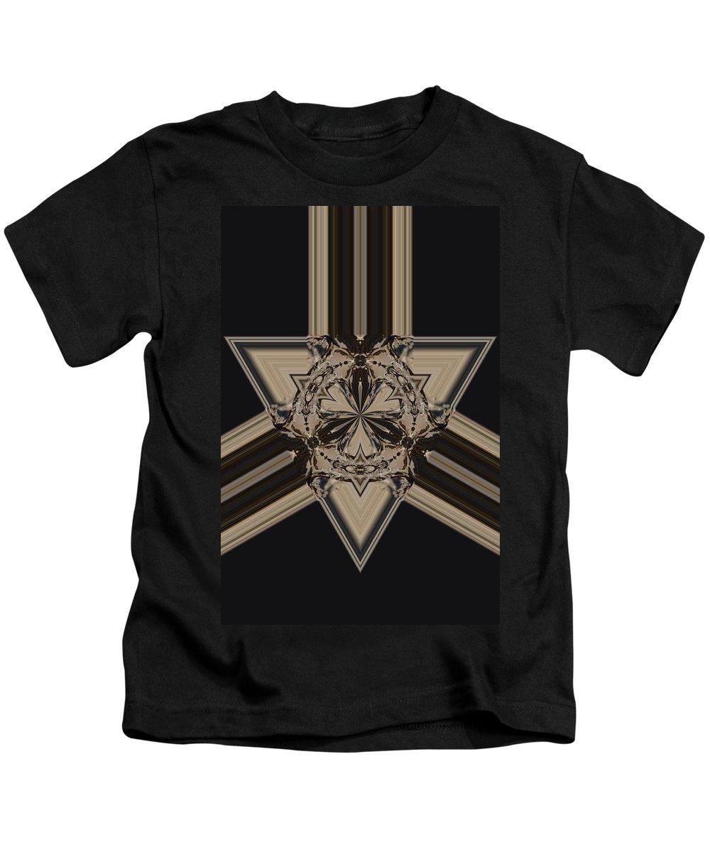 Arrow Of Jewels Kids T-Shirt featuring the digital art Arrow Of Jewels by Maria Urso