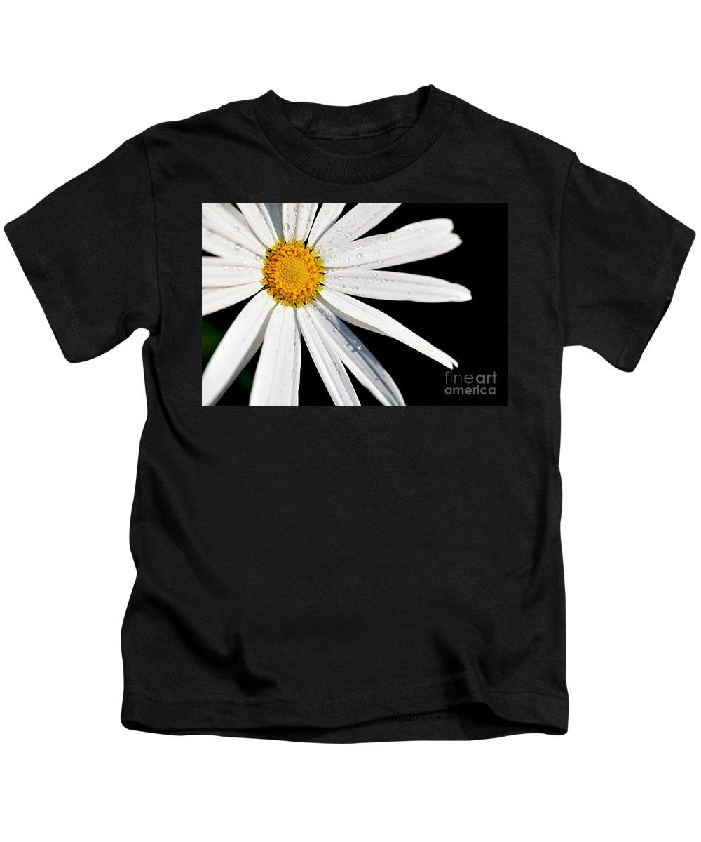 White Daisy Kids T-Shirt featuring the photograph As Bright As A Daisy... by Kaye Menner