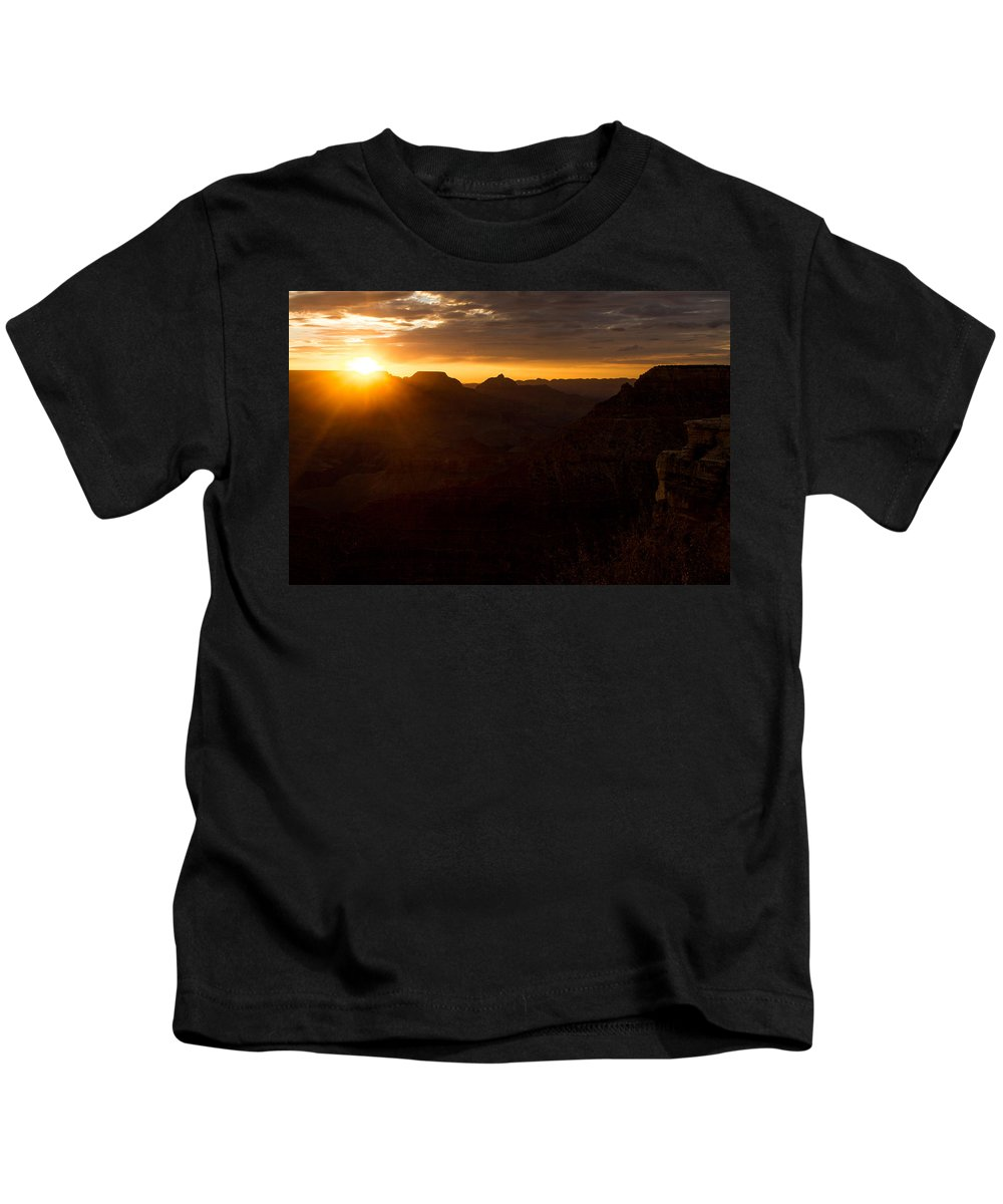 Sunrise Kids T-Shirt featuring the photograph As The Sun Rises by Kathleen Odenthal